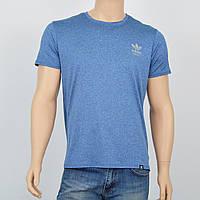 "Мужская футболка ""Вискоза"" Adidas 2720 голубой"