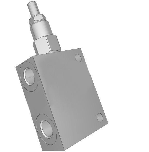 Гидравлический редукционный клапан в корпусе + порт под манометр Sun Hydraulics серии PBJB 320 л/мин