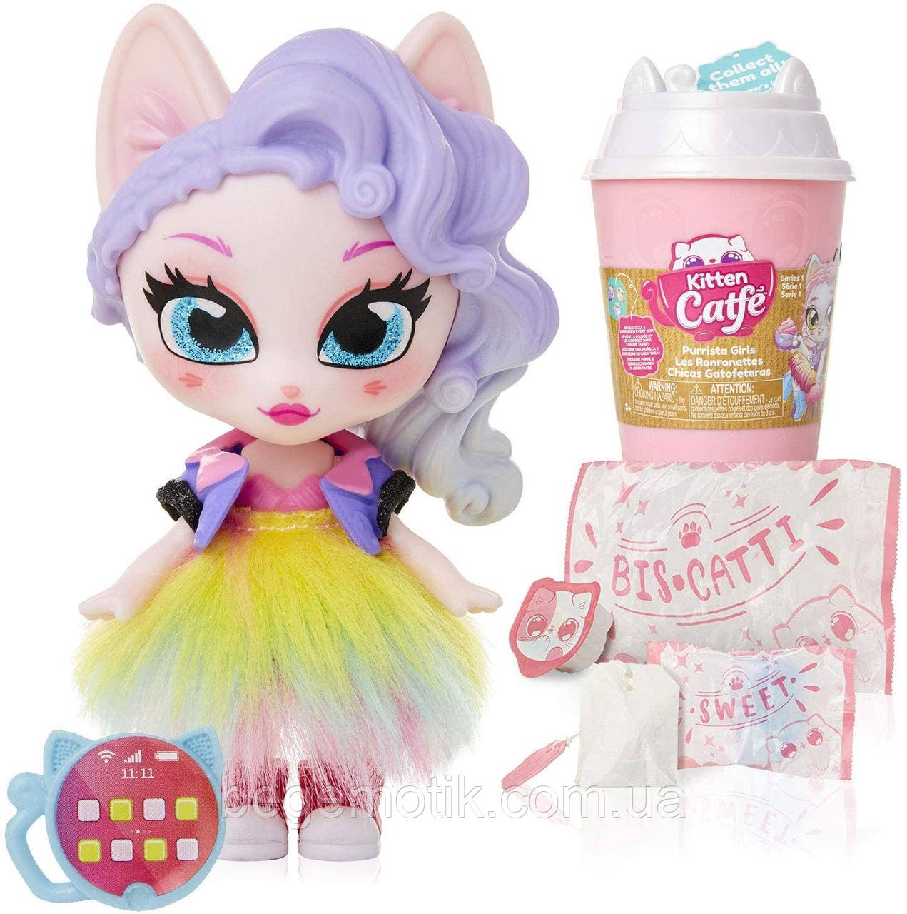 Kitten Catfe  Игрушка сюрприз Котик с аксессуарами серия 1 Purrista Girls Doll Figures Series 1