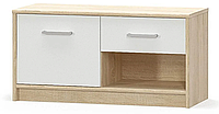 Тумба 1Д1Ш Типс Дуб самоа + Белый Мебель Сервис (83.4х34.4х42 см)