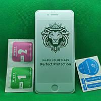 Защитное стекло для IPhone 6, 6s Full Glue 9D Белое захисне скло для