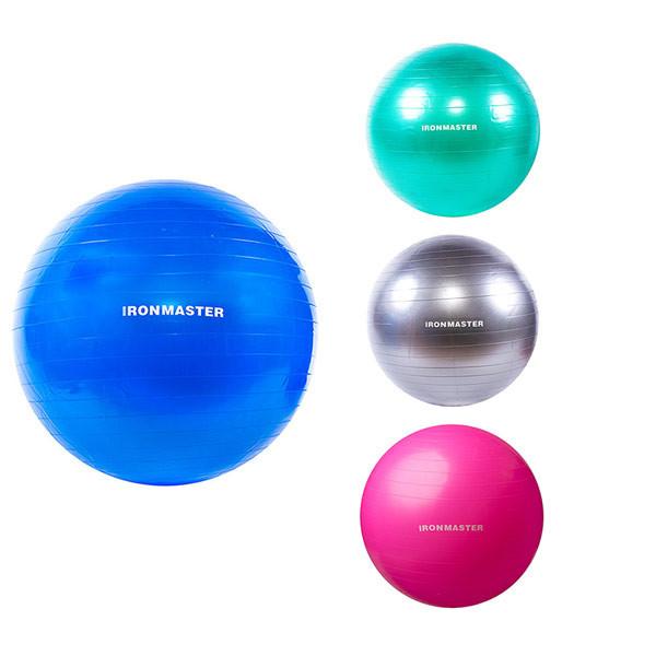 Мяч фитнес D75см, IronMaster, цвета в ассортименте.