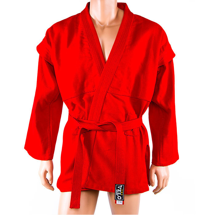 Самбовка Velo, куртка+шорты(эластан), красный, рост 150 см..