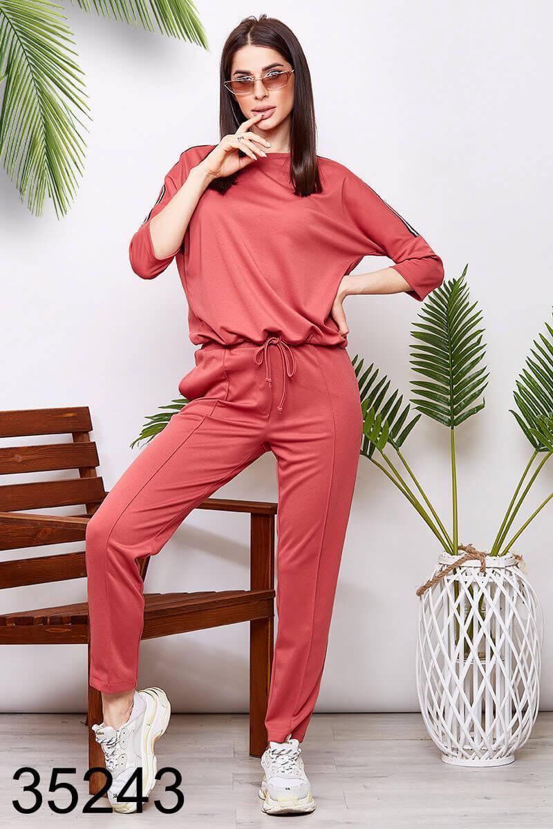 Спортивный женский костюм кофта + брюки на резинке р.42-44,46-48,50-52