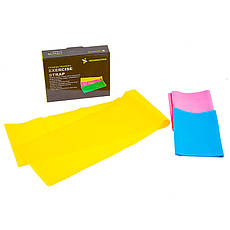 Лента эластичная (3шт) для фитнеса, йоги, TPE, IronMaster, 150*15 см