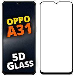 5D стекло OPPO A31 (Защитное Full Glue) Черное (Оппо А31)