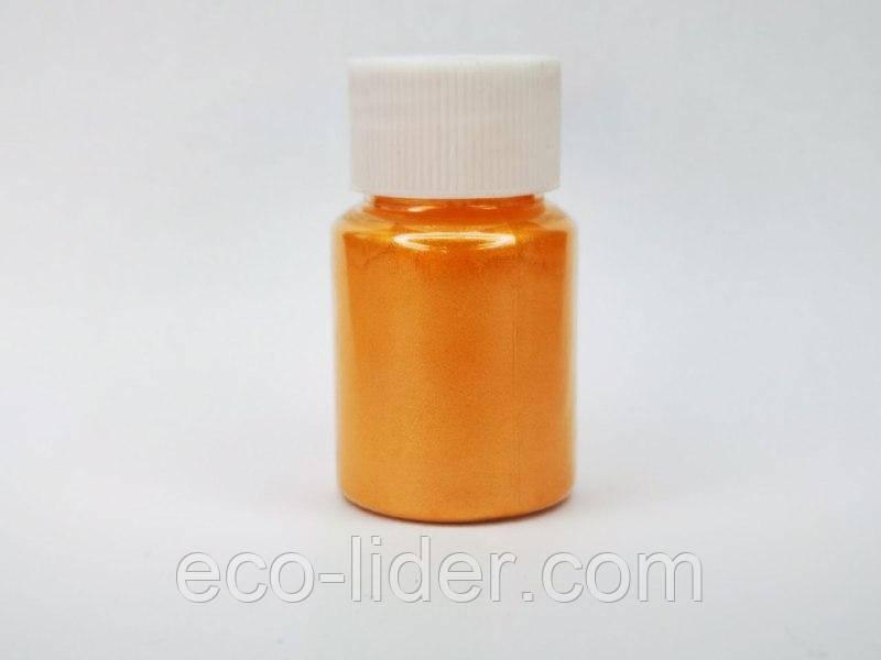Краситель сухой пигмент для слаймов и маникюра в баночке, мандарин