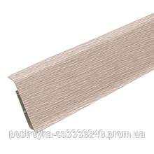 Плинтус пластиковый напольный IDEAL Система 229 Дуб латте 80 мм