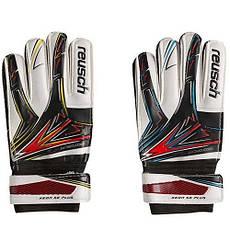 Вратарские перчатки Latex Foam REUSCH, красный/желтый; красный/голубой №8