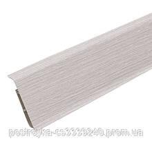 Плинтус пластиковый напольный IDEAL Система 253 Ясень серый 80 мм