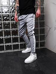Стильные мужские спортивные штаны,серого цвета