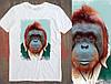 Чоловіча футболка з оригінальним принтом Orangutan