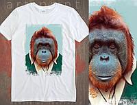 Чоловіча футболка з оригінальним принтом Orangutan, фото 1
