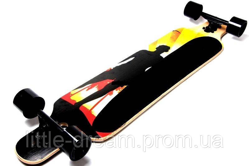 "ЛонгБорд (скейтборд) Freeriding ""Wood Black Men"""