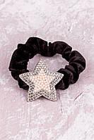 Резинка для волос бархатная Звезда