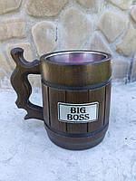 Пивной бокал из дерева BIG BOSS