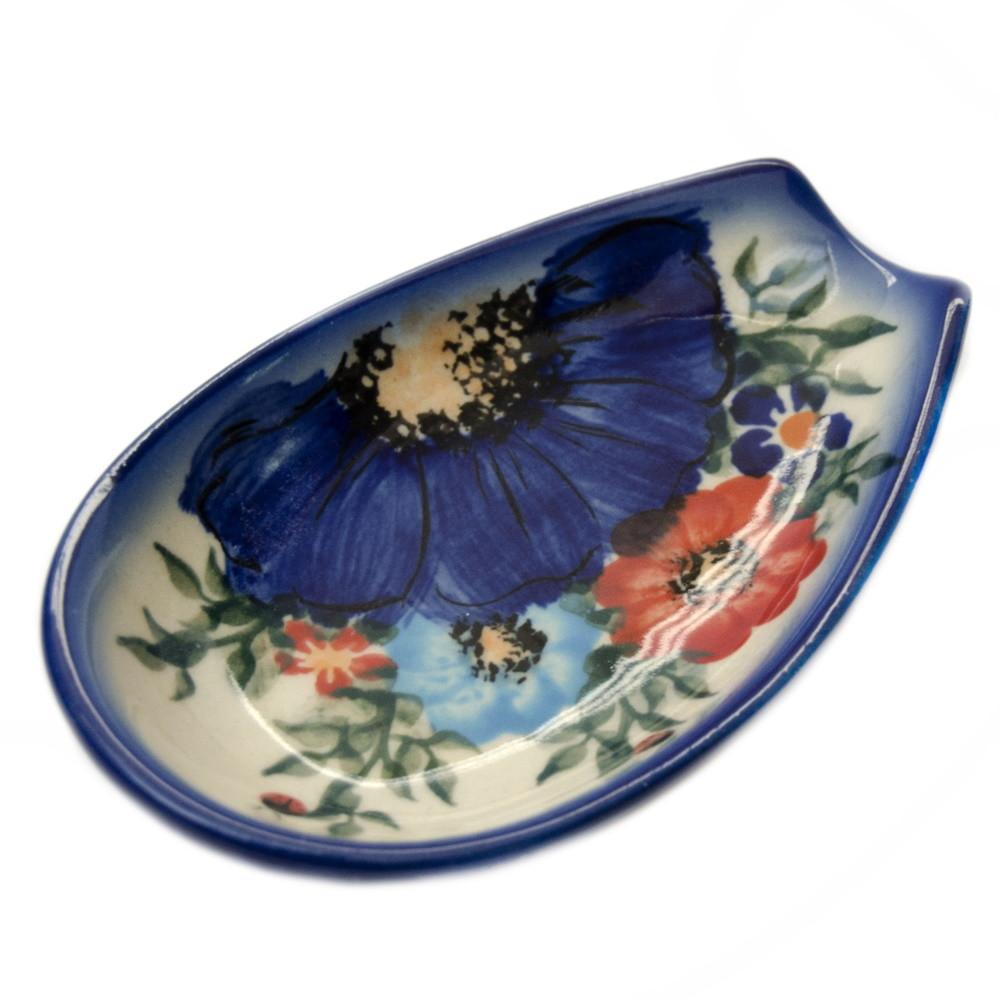Подставка под ложку овальная керамическая Polne kwiaty