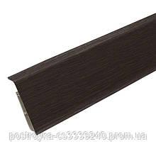 Плинтус пластиковый напольный IDEAL Система 303 Венге темный 80 мм
