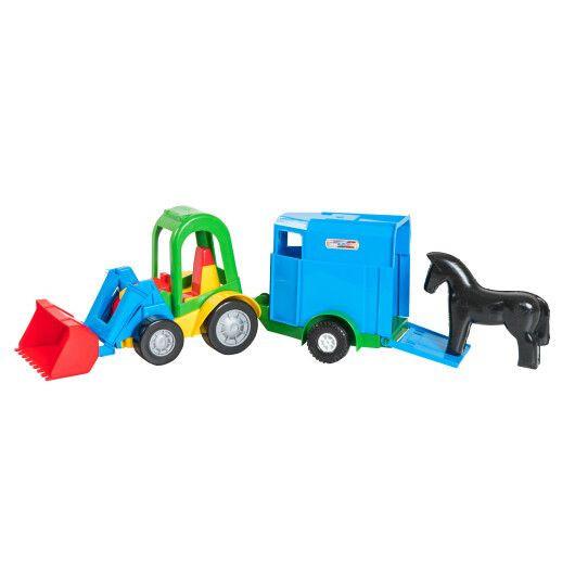 Трактор-багги с ковшом и прицепом для лошадей 39229-2