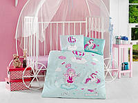 Комплект постельного белья в детскую кроватку из ранфорса 100*150 ТМ Aran Clasy LITTLE PRINCESS