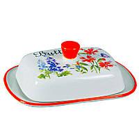"""Масленка с крышкой керамика """"Flora"""""""