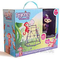 Комплект Fingerlings Jungle Gym PlaySet + интерактивная обезьянка Mia (детская игрушка фингерлингс)