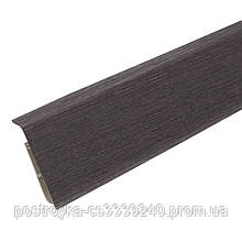 Плинтус пластиковый напольный IDEAL Система 352 Каштан серый 80 мм