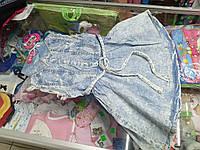 Детский джинсовый сарафан для девочки р.116 - 128