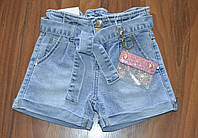 {есть:16 лет,6 лет} Джинсовые шорты Mom с кошельком для девочек S&D, 6-16 лет. Артикул: DT213, фото 1