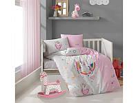Комплект постельного белья в детскую кроватку из ранфорса 100*150 ТМ Aran Clasy PONY