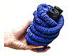 Компактный растягивающийся садовый шланг для полива MAGIC HOSE 30m синий, фото 3