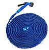 Компактный растягивающийся садовый шланг для полива MAGIC HOSE 30m синий, фото 9