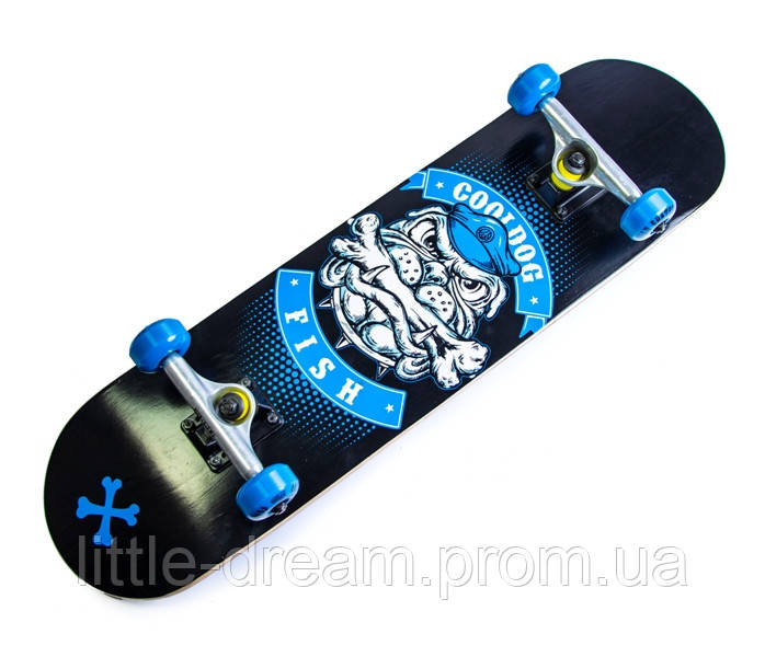 СкейтБорд деревянный (скейт) Fish Skateboard Cool Dog