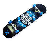 СкейтБорд деревянный (скейт) Fish Skateboard Cool Dog, фото 1