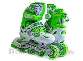 Ролики Superpower Green, размер 29-33 PU