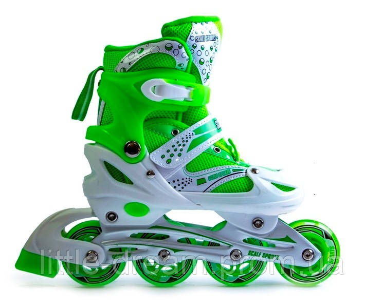 Ролики Superpower Green, размер 38-42 PU