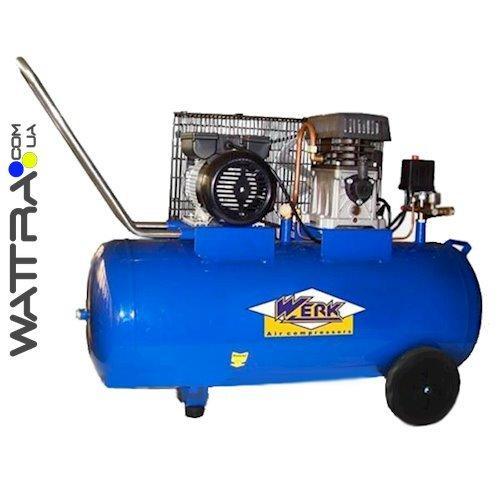 ⭐ Компрессор ZBM60-100 WERK - 8 атм. 2,0 кВт, вход: 300 л/мин, ресивер 100 л. WERK