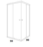 Душові кабіни квадратні Santeh 90х90