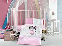 Комплект постельного белья в детскую кроватку из ранфорса 100*150 ТМ Aran Clasy ARIEL