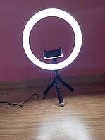 Штатив тренога с подсветкой 26см и держателемдля телефона лед кольцо блогера selfie streaming stick tr-3121