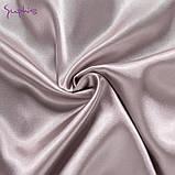 Піжама жіноча атласна на гудзиках. Комплект шовковий для дому, сну, розмір M (коричнева), фото 7