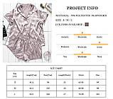 Піжама жіноча атласна на гудзиках. Комплект шовковий для дому, сну, розмір M (коричнева), фото 8