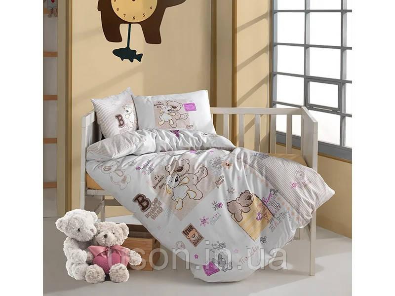 Комплект постельного белья в детскую кроватку из ранфорса 100*150 ТМ Aran Clasy FRIENSHIP,