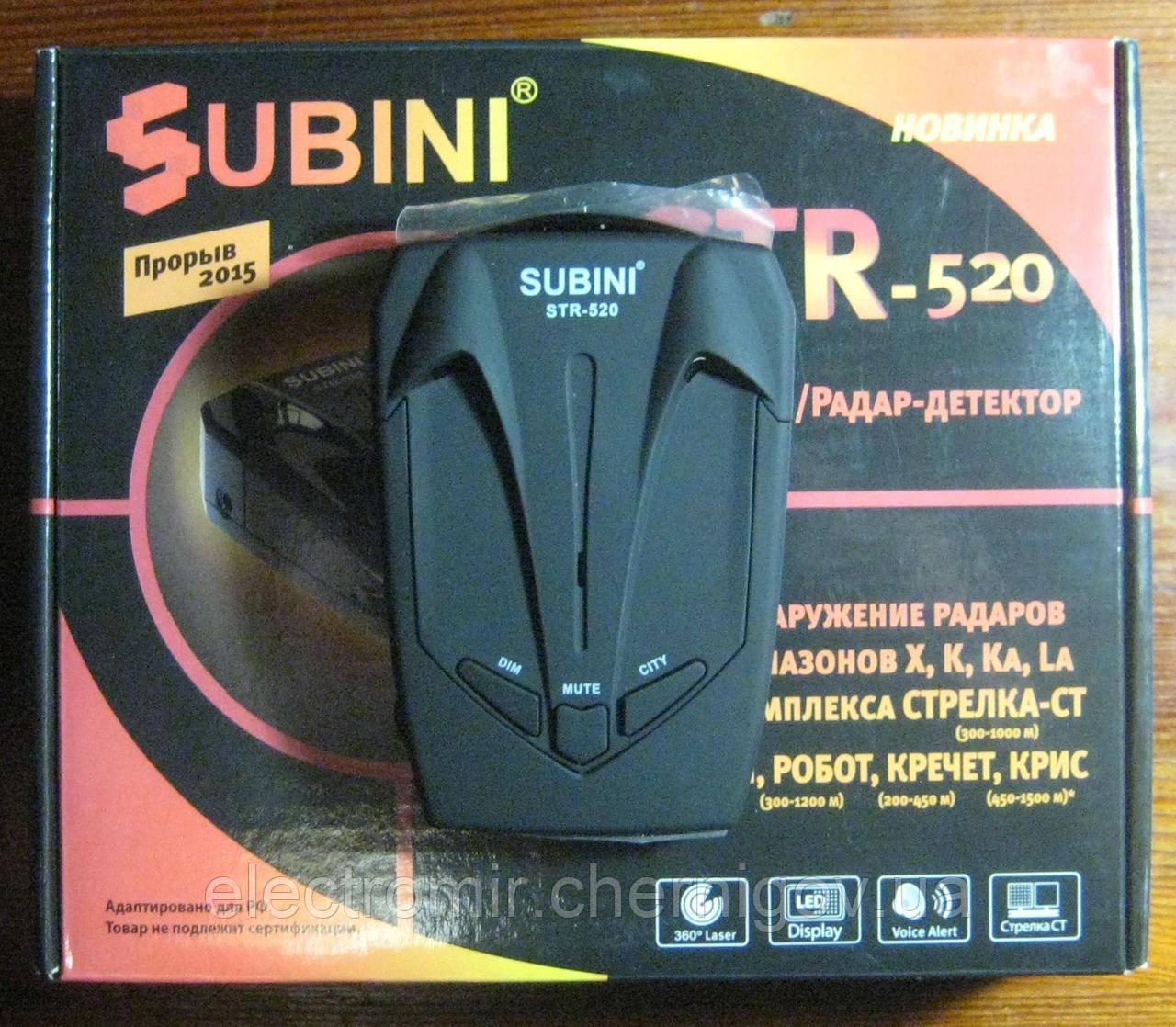 Радар-детектор Subini STR-520