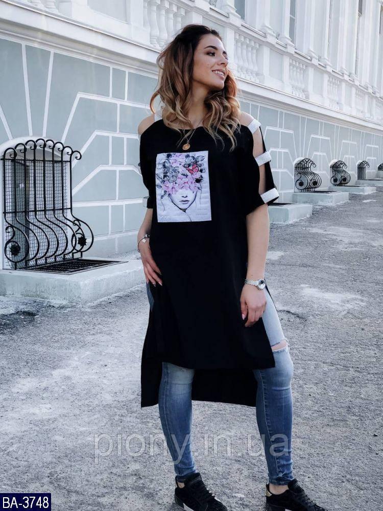 Женская Туника с аппликацией Батал