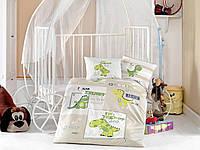 Комплект постельного белья в детскую кроватку из ранфорса 100*150 ТМ Aran Clasy TROODON
