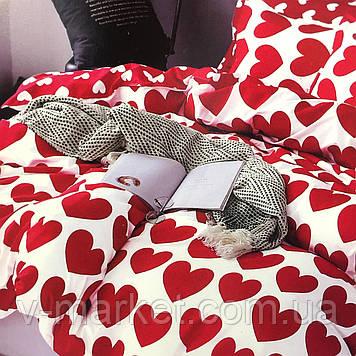 """""""Сердечки"""" постельное белье 3D эффект полуторный размер, 160/220"""