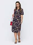 Летнее прямое платье с коротким рукавом и закругленным низом, фото 6