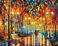 Алмазная живопись Осенний парк, размер 50*40 см, забивка полная, стразы квадратные