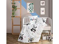 Комплект постельного белья в детскую кроватку из ранфорса 100*150 ТМ Aran Clasy PANDA